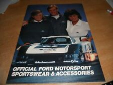 1984 FORD MOTORSPORT SPORTSWEAR ACCESSORIES CATALOG MUSTANG THUNDERBIRD FORD PER