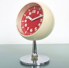 GERMAN LUMEN ALARM CLOCK TOP! HOLLOW FRONT Pedestal Space Age RETRO Mid Century