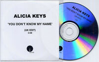 ALICIA KEYS You Don't Know My Name Edit 2003 UK 1-track promo test CD
