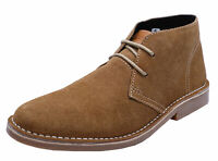 MENS LEATHER SUEDE COTSWOLD FAIRFORD DESERT ANKLE LACE-UP BOOTS SHOES UK 9-10