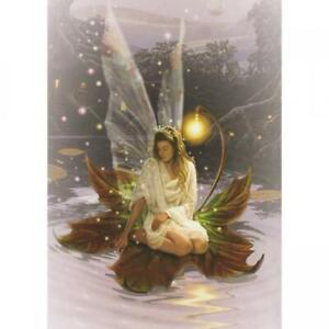 FAIRY ON A LILY PAD - BLANK GREETING CARD