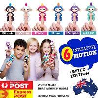 Fingerlings Electronic Interactive Thumb Monkey Sensor Fingers Pet Toy Black