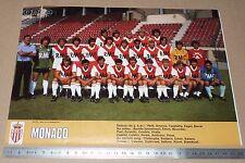 CLIPPING POSTER FOOTBALL 1980-1981 AS MONACO ASM ROCHER LOUIS II ETTORI
