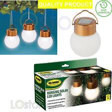 3 x New Led Hanging Solar Lights Decorative Outdoor Garden Tree Lighting Xmas