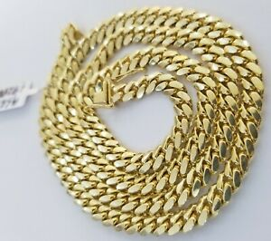 """REAL 14k Gold 6mm Miami Cuban Chain Link Necklace Solid 14kt 24"""" Men Women Chain"""