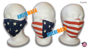 Face and Mouth Cover with adjustable ear loop ( 1 pack ) . Made in USA