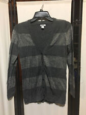 Old Navy Womens Cardigan size SP Gray Metallic Long Sleeve Button Down Sweater
