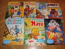 Lote 7 albumes Danone completos: don Quijote, Maya, la batalla de los planetas..