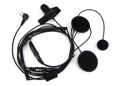 Full Helmet Motorcycle 2 Pin Radio Headset For MOTOROLA CP040 GP300 EP450 CP200