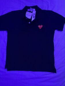 CDG Comme Des Garcons Mens Button Up T-shirt Sz Md, 100% Authentic