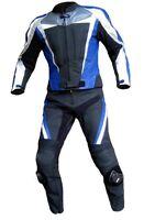 Lederkombi zweiteilig schwarz blau hochwertig Zweiteiler Gr 46 48 50 52 54 56 58