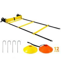Pro Agility Speed Training Ladder and Cones 17ft Fixed Soccer Football Drills