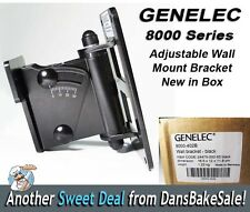 NIB Genelec 8000-402B Adjustable Wall Mount for 8030A, 8040A, 8050A Speakers NEW