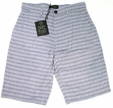 TLFI TRUST FUND Mens 100% Cotton Shorts Size 32  Blue Striped NEW
