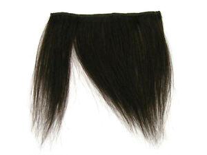 """CLIP-IN HUMAN HAIR FRINGE BANGS CYBERLOX #2 DARKEST BROWN UNCUT 8"""""""