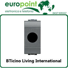 Coprifrutto BTicino Living International x frutto TV SAT 1 foro antenna parabola