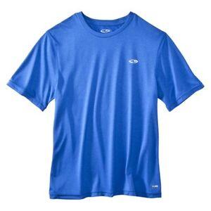 LARGE BLUE Original Champion® Men's Athletic Dri fit T-shirt S9331
