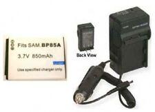 Battery + Charger for Samsung EC-SH100ZBPBUS EA-BP85A