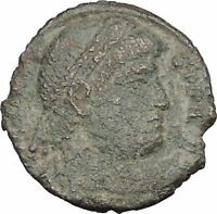 "VALENS ""Last True Roman"" 367AD Ancient Roman Coin Victory Nike Angel i33009"
