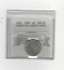 1883 Variety #1  Liberty Head ¢5 Cent, Coin Mart