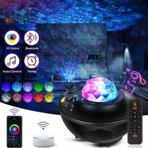 Galaxy Star Night Lamp LED Starry Sky Projector Light Ocean Remote Wave USB N6A3