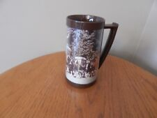 Vintage Thermo-Serv Clydesdale Horses Budweiser Beer plastic mug /cup