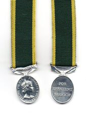 TERRITORIAL EFFICIENCY MEDAL E.II.R. WITH CLAPS GIBRALTAR - A SUPERB MINIATURE