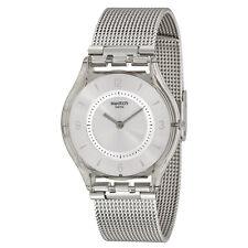 Swatch Metal Knit Grey Milanese Ladies Watch SFM118M