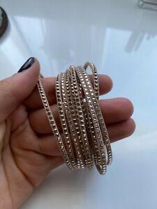 Swarovski Slake Crystal bracelet leather wrap bracelet Beige sparkle wrap suede