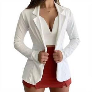 Women's Long Sleeve Slim Fit Blazer Jacket Suit Coat Office Work OL Cardigan