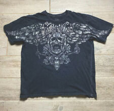 Affliction Mens Sz 2XL Distressed Short Sleeve Fedor Emelianenko Shirt