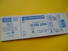 ELTON JOHN Original__UNUSED__1976 CONCERT TICKET - Madison Sq Garden, NYC__EX+