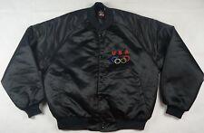 Rare VTG JCPENNEY Team USA Olympic Games Satin Varsity Rings Jacket 90s Black L