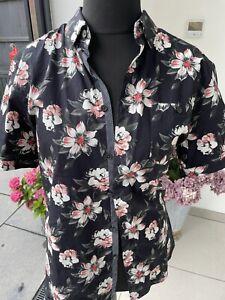 Mens Ted Baker Short Sleeve Flowery Shirt Size 4
