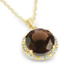 Smoky Quartz Yellow Gold Fine Necklaces & Pendants