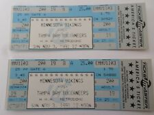 2 unused full football tickets Minnesota Vikings vs Tampa Bay Buccaneers 1991