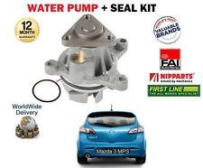 Para Mazda 3 Bl 2.3 Mps Turbo L3Y7 Hatchback 2009   > Nuevo Bomba de Agua + Kit