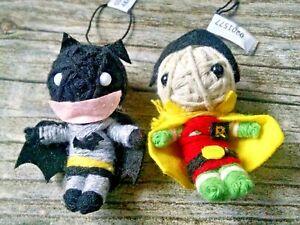 "Batman & Robin 2"" Yarn Doll Action Figures Backpack Charms Ornaments"