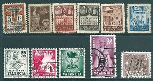 SPAIN 20th Century used 'Back of Book' stamp collection: Barcelona & Valencia