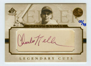 Charlie Keller 2005 Sp Legendary Cuts 05/98 Cut Auto Autograph Signature Yankees