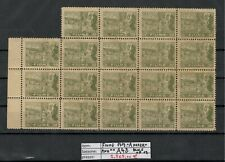 FIUME  1919. - A paper block of 19 Sassone A48  MNH**  $$$$$$$$$$$$$