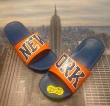 d6d852cfc856 Nike Benassi Solarsoft NBA New York Knicks Slide Sandal Size 13 917551 800  New