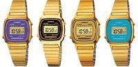 Casio Ladies watch retro digital Gold colour LA670WGA 4 colours UK seller