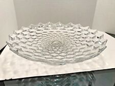 Fostoria American Clear Large Footed Cake or Torte Tray - 16 inch diameter