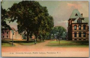 """c1900s BROWN UNIVERSITY Providence RI Postcard """"Middle Campus"""" Rotograph Unused"""