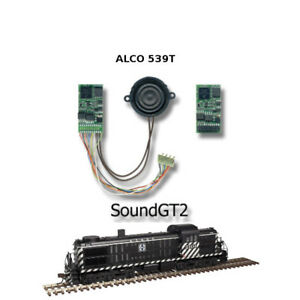 ALCO RS-1, RS-3, RSD 4/5 Diesel  SoundGT2.1 DCC decoder for Atlas,KATO,brass etc