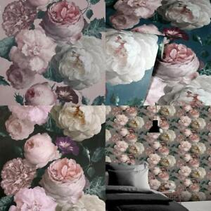 Arthouse Highgrove Floral Vintage Flowers Wallpaper 4 Colours