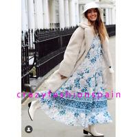ZARA WOMAN NEW SS20 SALE! BLUE/ WHITE LONG PRINT DRESS ALL SIZES REF: 5107/044