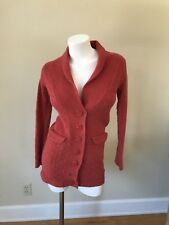 SPARROW Anthropologie Womens Long Cardigan Sweater Knit Shawl Collar Pointelle S