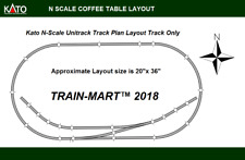 KATO N SCALE UNITRACK Tabletop Coffee Table Layout Train Track Set